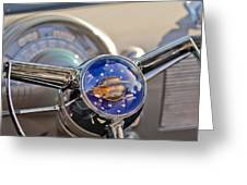 1950 Oldsmobile Rocket 88 Steering Wheel Greeting Card by Jill Reger