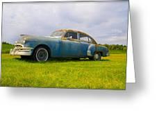 1950 Pontiac Chieftan Greeting Card
