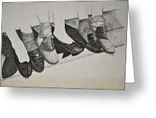 1950 Shoe Fad Greeting Card by Glenn Calloway