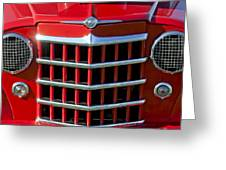 1950 Willys Jeepster Gtille Greeting Card