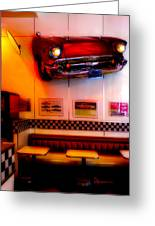 1950s American Diner - Featured In Vehicle Enthusiasts Greeting Card