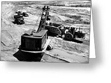 1950s Construction Site Excavation Greeting Card