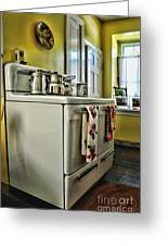 1950's Kitchen Stove Greeting Card