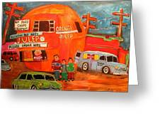 1950's Orange Julep Montreal Memories Greeting Card