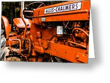 1950s-vintage Allis-chalmers D14 Tractor Greeting Card
