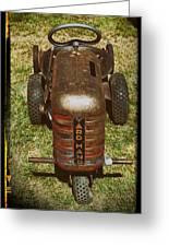 1950s Yard Hand Tractor Greeting Card