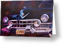 1951 Cadillac Greeting Card