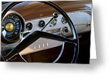 1951 Ford Crestliner Steering Wheel Greeting Card