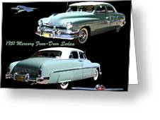1951 Mercury Come And Going Greeting Card by Jack Pumphrey