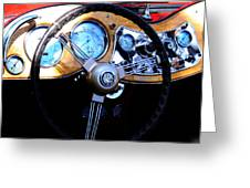 1951 Mg Td Dashboard Greeting Card