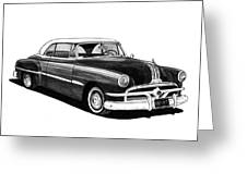 1951 Pontiac Hard Top Greeting Card by Jack Pumphrey