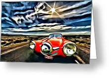 1951 Red Studebaker Greeting Card