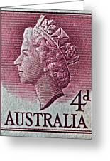 1952-1958 Australia Queen Elizabeth II Stamp Greeting Card