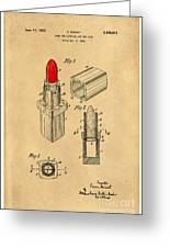 1952 Chanel Lipstick Case 4 Greeting Card