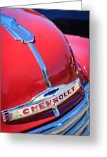 1952 Chevrolet Suburban Hood Ornament Greeting Card