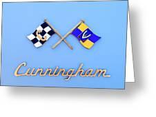 1952 Cunningham C-3 Vignale Cabriolet Emblem Greeting Card