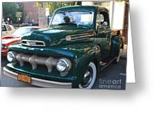 1952  Ford Pick Up Truck Front And Side View Greeting Card