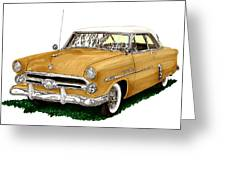 1952 Ford Victoria Greeting Card