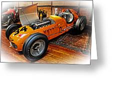 1952 Indy 500 Roadster Greeting Card