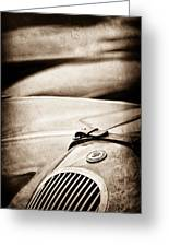1952 Jaguar Xk 120 John May Speciale Grille Emblem Greeting Card