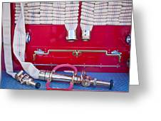 1952 L Model Mack Pumper Fire Truck Hoses Greeting Card