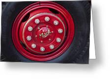 1952 L Model Mack Pumper Fire Truck Wheel Greeting Card