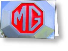 1952 Mg Roadster Emblem Greeting Card