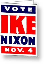 1952 Vote Ike And Nixon Greeting Card