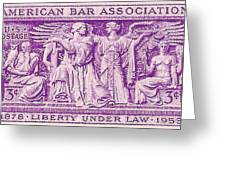 1953 American Bar Association Postage Stamp Greeting Card