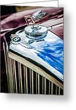 1953 Bentley R-type Hood Ornament - Emblem -0790c Greeting Card