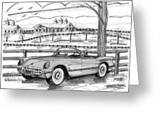 1953 Chevrolet Corvette Greeting Card