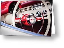 1953 Chevrolet Corvette Steering Wheel Emblem -1400c Greeting Card