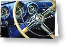 1953 Desoto Firedome Convertible Steering Wheel Emblem Greeting Card