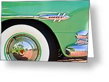 1953 Hudson Hornet Sedan Wheel Emblem Greeting Card