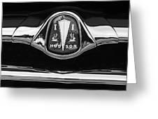 1953 Hudson Twin Hornet Grille Emblem Greeting Card