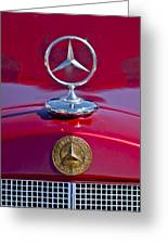 1953 Mercedes Benz Hood Ornament Greeting Card
