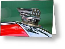 1953 Morgan Plus 4 Le Mans Tt Special Hood Ornament Greeting Card by Jill Reger