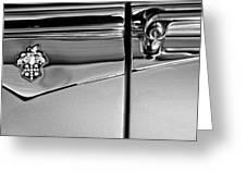 1953 Packard Caribbean Convertible Emblemblem Greeting Card