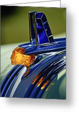 1953 Pontiac Hood Ornament 3 Greeting Card