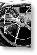 1953 Pontiac Steering Wheel 2 Greeting Card