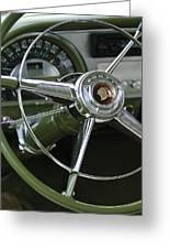 1953 Pontiac Steering Wheel Greeting Card by Jill Reger