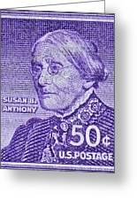1954-1961 Susan B. Anthony Stamp Greeting Card