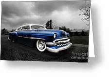 1954 Blue Buick Greeting Card