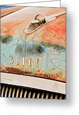 1954 Buick Special Hood Ornament Greeting Card