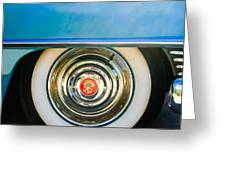 1954 Cadillac Coupe Deville Wheel Emblem Greeting Card