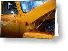 1954 Chevrolet And A 1963 Lemans Reflection Greeting Card