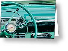 1954 Chevrolet Belair Steering Wheel 3 Greeting Card