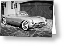 1954 Chevrolet Corvette -203bw Greeting Card