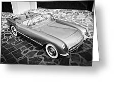 1954 Chevrolet Corvette -270bw Greeting Card