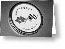 1954 Chevrolet Corvette Emblem -052bw Greeting Card